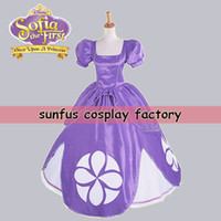Wholesale Adult Hot Movie The First Princess Sophia Sofia Purple Dress cosplay costume Anime Game Costumes Wig