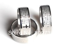 bible catholic - Etched Engrave Bible Prayer Cross Ring Stainless Steel Rings Fashion Catholic Christian Religious Jewelry Free