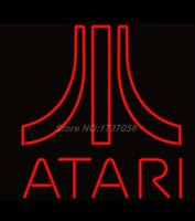 atari games - 2015 HOT Neon Sign Real Glass Tuble Details about quot x14 ATARI Game Room Beer Logo Bar Pub Store Neon Light Sign H48