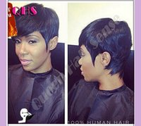 black women wigs - New Arrival Cheap African American Short Wigs for Black Women Short Human Hair Cut short hair style full Wig