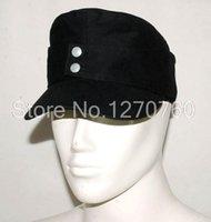 Wholesale WWII GERMAN ELITE EM SUMMER PANZER M43 FIELD COTTON CAP BLACK IN SIZES