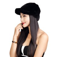 Wholesale Mink Fur Knited Riding Hats Multicolors