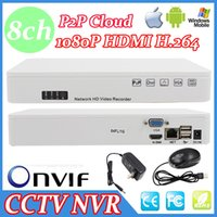 Wholesale 8CH Super NVR Network HD Video Recorder Support Windows iPhone Android Onvif P HDMI Output P2P H FL G CCTV NVR