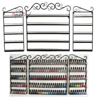 Wholesale Layers Hanging Wrought Iron art Nail Polish Wall Rack Display stand storage Holds shelf hold Bottles