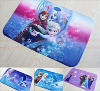 Wholesale Hot Sale Lovely Frozen mat Bathroom Coral velvet mats super absorbent doormat snow carpet cartoon non slip mat