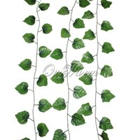 artificial hearing - 1 Piece Inches To Inches Artificial Silk Ivy Garlands With Hear shaped Leaves