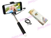alloy plus size - Mini Size Wired Extendable Monopod Telescopic Selfie Stick For Iphone s Plus smartphone