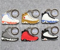promotion fan - Fan Souvenirs Basketball Shoes Keychain Sneakers Key Chain Fashion Key Rings Jump Man generation PVC Keychains Color