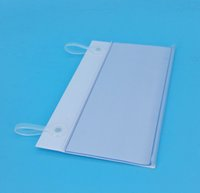 Wholesale 10cm x cm PVC Plastic Price Tag Sign Label Display Holder With Buckles For Supermarket Shelf Stand Hook Rack