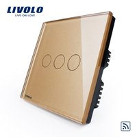 Wholesale livolo force Wal switch remote control switch wall switch three way switch gold single remote control to open three