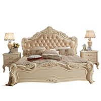 Wholesale Continental Double French leather bedroom marriage Bed m wood fashion creative modern furniture