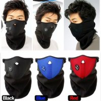 Wholesale Thermal Neck Warmers Fleece Balaclavas Hat Headgear Winter Skiing Ear Windproof Face Mask Motorcycle Bicycle Scarf