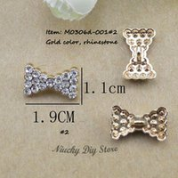Cheap 50 pcs lot Buttons butterfly metal rhinestone embellishments for wedding,hair bows,scrapbooking
