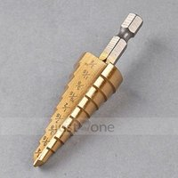 Wholesale Titanium Hole Step quot to quot Drill Bit M35 HSS Nitride Coating quot Shank