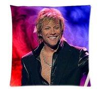 Wholesale Top Selling Jon Bon Jovi Soft Zippered Pillowcase Rectangle Size X18 Inch Twin Sides Printing