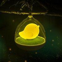 baby birds - Novelty USB Birdcage LED Lamp Birdie Shape Sensor bird Adjustable Lamp Kids Baby Children Touch sensitive Night Light Wedding Gifts Re