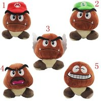 Wholesale Super Mario Bros Goomba Plush Stuffed Dolls Plush Toys CM styles choose NEW Plush Toys Figures toy T3077