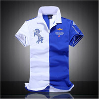 Men air spells - New spell color short sleeved polo shirt male Air Force One high quality cotton men s short sleeve