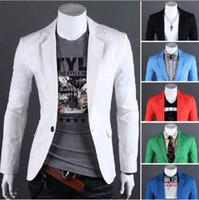 blazer jacket men - High Quality Mens Casual Suits Blazers Slim Fit Jacket Fashion Blazer Coat Button Suit Business Men Formal Suit Jacket US XXS M DH04