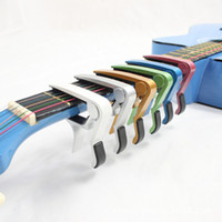 Wholesale Mix Universal Acoustic Electric Tune Quick Change Trigger Folk Acoustic Capos Electric Guitar Banjo Trigger Capo Key Clamp