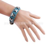 best korean model - Korean fashion leather bracelet high grade leather jewelry Taobao best selling models