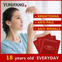 pomegranate - face care YUNIFANG Pomegranate Facial Mask anti aging anti wrinkle whitening brightening hydrating moisturizing