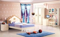 Wholesale Luxury Wood Children House Furniture Bedroom Furniture wood furniture Bed desk wardrobe Best Child Furniture MYL6602