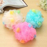 bath puff - Puff Mesh Sponge Bath Ball Body Exfoliating Loofah Sponge Bath Flower Ball