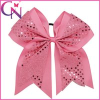 Wholesale 8 inch Sequin Performance Hair Bow Hair Bows hairbands Rib ribbon Hairbows Hair bows