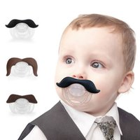 Wholesale Cute Mustache Pacifier For Baby Infant Funny Soothers Kids Toddlers Silicone Nipple Feeding PC Black Coffee