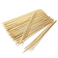 Wholesale 100Pack Bamboo Wooden BBQ Party Skewers Disposable Sticks Meat Food Long Catering cm