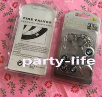 tire powder - Car styling Car covers Set Car Wheel Tires Valve Caps Tyre Stem Air Caps with Mini Wrench Keychain for BMW M Powder sets