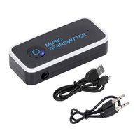 Wholesale New Mini mm Bluetooth Audio Transmitter Stereo Adapter for TV For iPod Mp3 Mp4 PC for Car Home Brand New