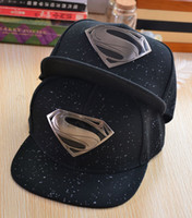dc hats - 2016 Hot brand DC fitted hats supermen baseball caps for women men Casual Outdoor sports snapback hats logo S caps blue grey black free ship