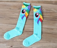 america art - Pony Superman Captain America rainbow dash Socks Knee High With CAPE women girls Sports Socks
