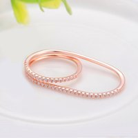 Cheap Hot Peraonality Men And Women Lovers Ring South Korea 18K Czech Gold Opal Ring Hollow Drill For Wholesale Fashion