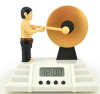 Wholesale 1 Piece Classic Creative Alarm Clock Bruce Lee Knock the Gong Clocks