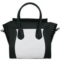 Wholesale Ladies Designer Leather Style Celebrity Studded Tote Bag Women Stud Handbag Shoulder Cross body Bags Satchel L1158