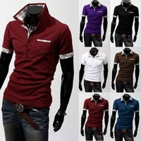 Short Sleeve polo shirts - 2016 High Quality Hot Summer Men Fashion Short Sleeve solid Polos shirts Cotton Unlined Garment colour C01