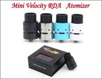 air fre - New Mini Velocity RDA Rebuildable Dripper Atomizer Clone with Wide Bore Drip Tips Air Holes Adjustable Airflow Fit Mechanical Mods DHL Fre