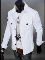 Wholesale 2015 High quality High quality HOT New Men s Slim pure cotton lapel Jacket Coat Outerwear