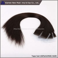 Wholesale tape in hair extensions each set skin weft tape hair extensions virgin brazilian hair double sides adhesive