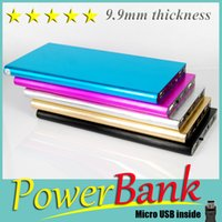 Wholesale Pretty PowerBank mm thickness mAh PowerBank Flashlight External Battery Backup Charger For iPhone S HTC ONE M8 Android