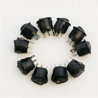 Wholesale New Mini Round Black Pin SPDT ON OFF Rocker Switch Snap in