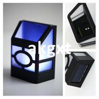 Wholesale Details about Solar Powered Wall Mount LED Lantern Light Outdoor Landscape Garden Lamp G9 D504