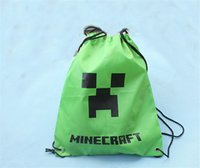 hello kitty school bag - new Creeper bag Minecraft backpack Minecraft Draw String Back pack Sling Bag Waterproof Backpacks Backpack Christmas gifts for kids D239