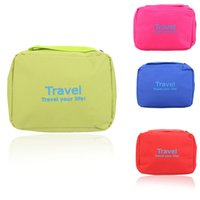 Wholesale Portable Multifunctional Outdoor Camping Travel Wash Bag Waterproof Breathable Zipper Big Cosmetic Storage Bag Case cm H14681