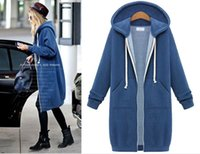 american easy - womens trench coat ladies knitted cotton blend jacket with hoodie easy matching casual warm Europe American styles sizes colors