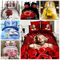 Wholesale Beautiful D Flower Bedding Textiles Cotton Bedding Sets Queen King Size Bedclothes Duvet Cover Sheet Bed Spreads