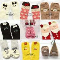 Wholesale Cute Women Bed Socks Pure Fluffy Thick Warm Winter Soft Floor Home Foot Clothing